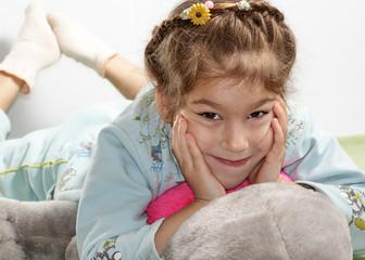 Little girl resting