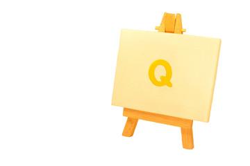 Painted 'Q'