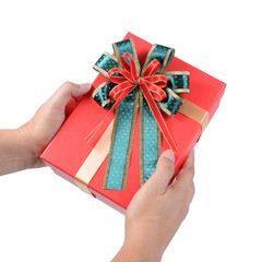 Give or receive red gift box.