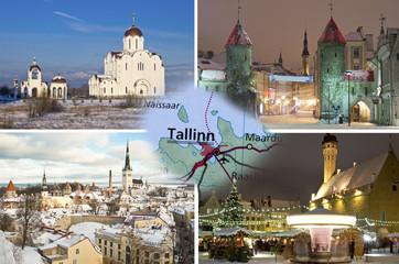Winter Tallinn collage