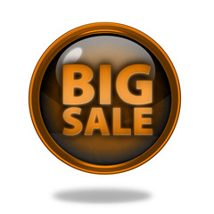 Big sale circular icon on white background