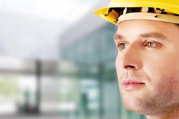Portrait of handsome engineer