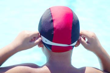 preparing for swimming