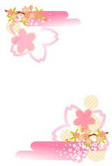 桜吹雪ハガキ