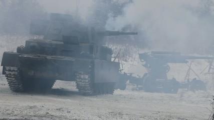 armor explosion smoke war
