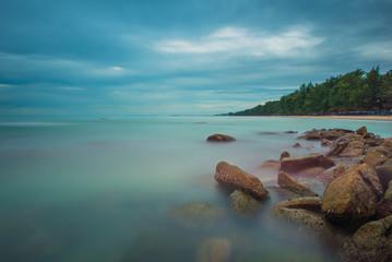 Seascape at Lanhinkhao,Maeramphueng Beach, Rayong, Thailand