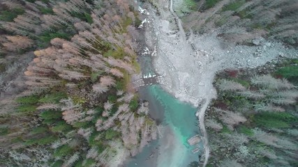 Val di Mello - Valmasino (IT) - vista aerea autunnale
