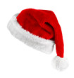 canvas print picture - Santa red hat isolated in white background