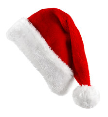 Santa red hat isolated in white background