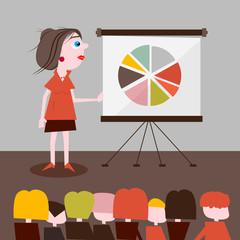 Businesswoman Presentation Illustration