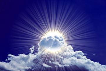 Wolkenpracht dunkelblau