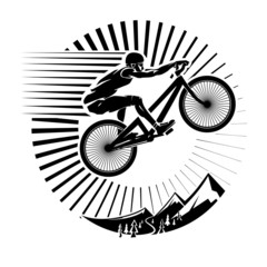 Mountain bike trials. Vector illustration