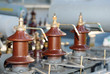electrical connectors of an old electric voltage transformer - 73510435