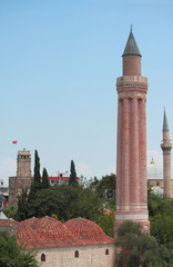 historical Yivli minaret, downtown of Antalya