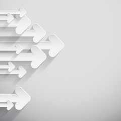 Paper Arrows on Light Background - Vector