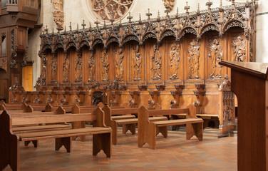 Stalles, collégiale Saint Martin à Colmar, Haut Rhin, Alsace