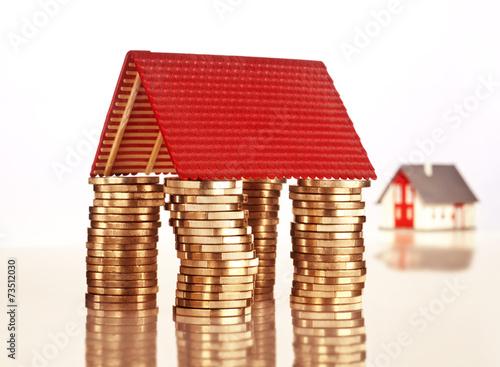 canvas print picture Finanzierung einer Immobilie