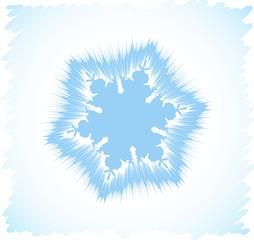 Abstract snowflake