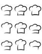 black chef hat set - 73512455