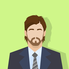 businessman profile icon male portrait flat