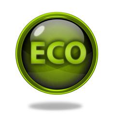 eco circular icon on white background