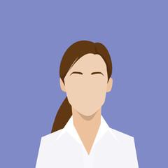 businesswoman profile icon female portrait flat