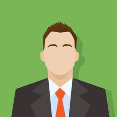 businessman profile icon male portrait flat