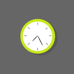 clock icon color flat design vector