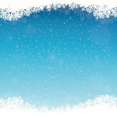 blue winter snowflakes background