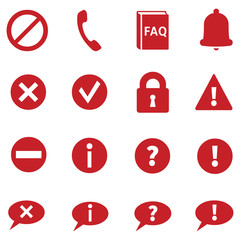 Vector Set of Info Icons