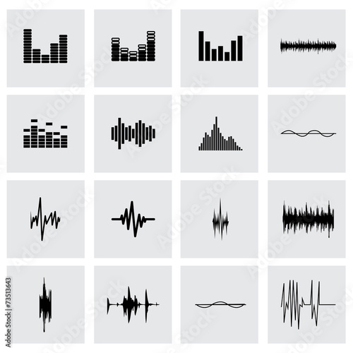 Vector music soundwave icon set - 73513643