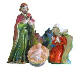 Nativity scene with baby jesus