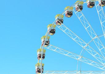 Ferris wheel in vintage style