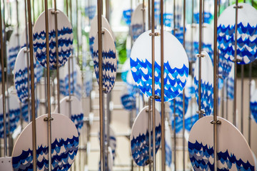 Blue and White Windchime