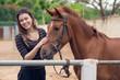 Stroking pony