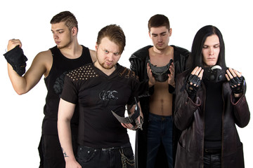 Portrait of the metal band