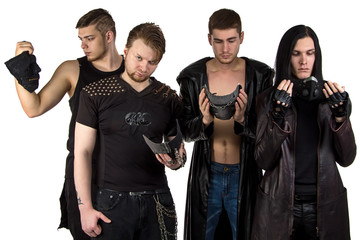 Portrait  of the man's metal band
