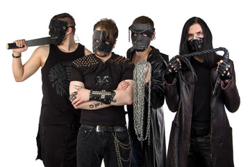 Photo of the metal band with whip