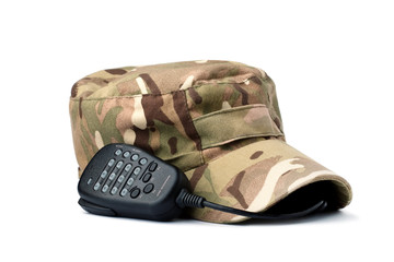 Rebels multicam cap and microphone on white
