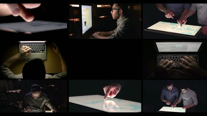 Loop Montage of People Computing