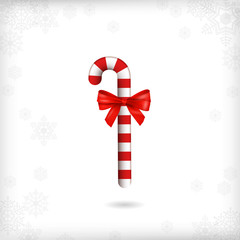 Christmas Candy Cane Red Bow