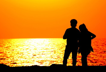 gün batımında aşk...