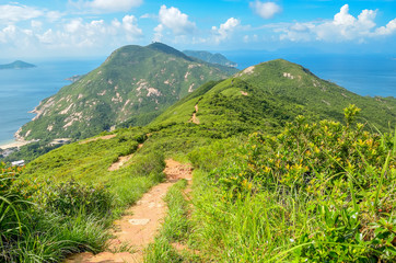 Hong Kong trail beautiful views and nature, Dragon's back