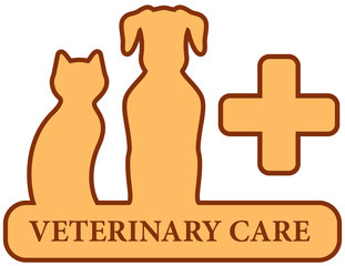 brown isolated veterinary care symbol