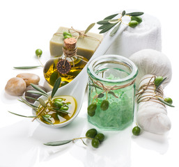 concept shot of the olive spa