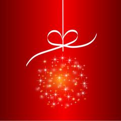 Nice one red christmas ball
