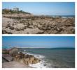 canvas print picture - Spiaggia rocciosa