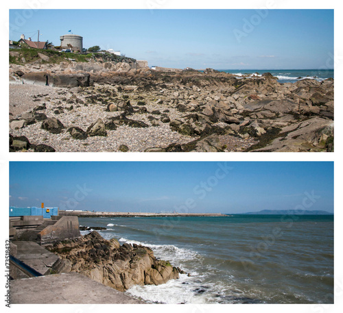 canvas print picture Spiaggia rocciosa