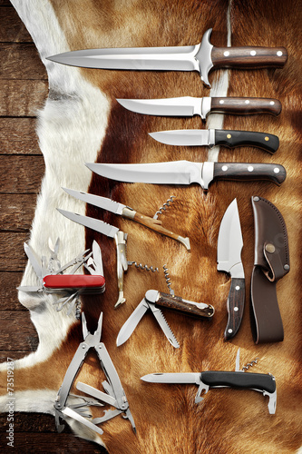 Foto op Canvas Jacht hunting knives