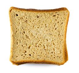 Closeup image of bread slices